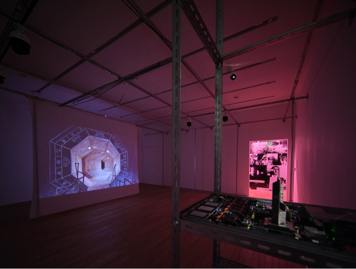 Yuri Pattison, False Memory (2019). Video installation. Exhibition view: Phantom Plane, Cyberpunk in the Year of the Future, Tai Kwun Contemporary, Hong Kong (5 October 2019–4 January 2020). Courtesy the artist and Tai Kwun Contemporary.