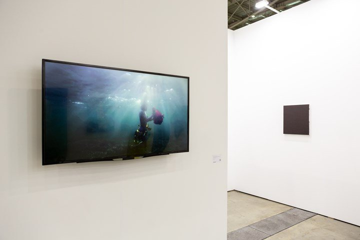 "Martha Atienza's Our Islands 11°16'58.4""N 123°45'07.0""E (2017). Exhibition view: Silverlens, Taipei Dangdai (18–20 January 2019). Courtesy Taipei Dangdai."