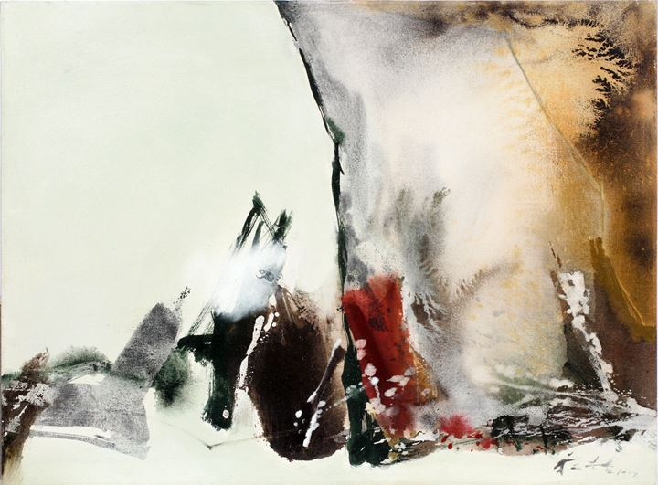 Chuang Che, Landscape 77–8 (1977). Oil on canvas. 89.6 × 123 cm. Courtesy Asia Art Center.