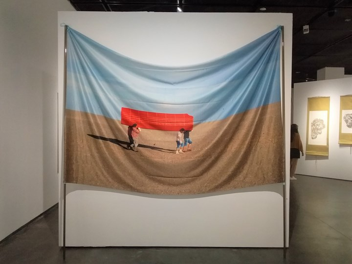 Zhang Hui, Zhuang Hui Solo Exhibition (2014) (Detail). Exhibition view: Starting from the Desert: Ecologies on the Edge, 2nd Yinchuan Biennale, MOCA Yinchuan (9 June–30 September 2018). Photo: Tessa Moldan.