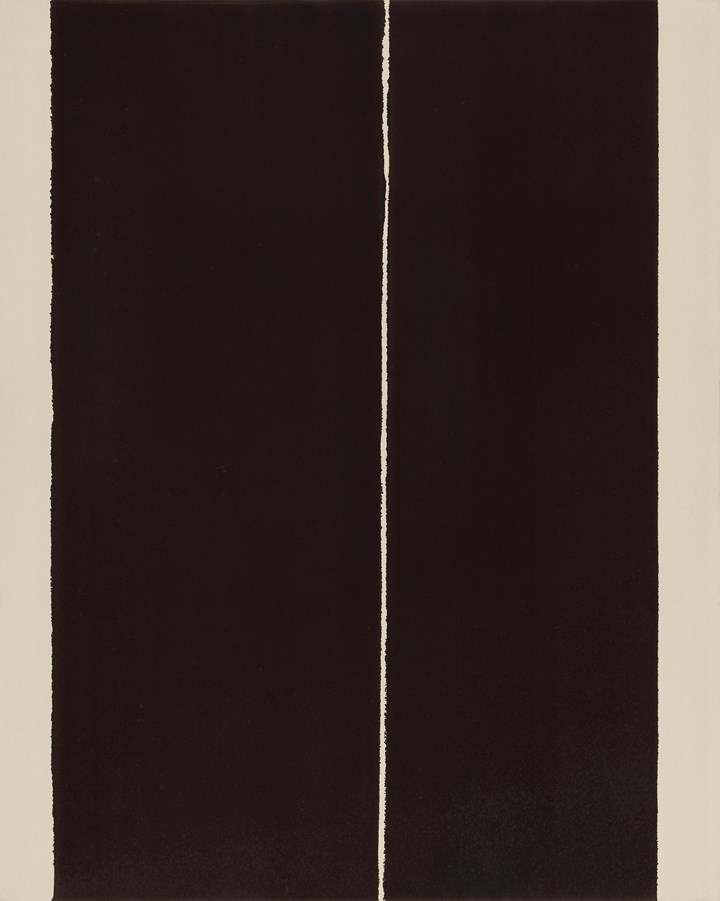 Yun Hyong-keun, Burnt Umber & Ultramarine Blue (2007), oil on cotton, 227.5 x 182.3 cm. Courtesy Estate of Yun Hyong-keun. Photo: © Yun Seong-ryeol.