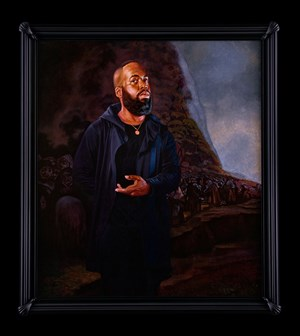 Portrait of Derrick Adams, El Santo Oficio by Kehinde Wiley contemporary artwork