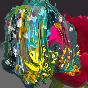 Seinotoki Red Red Rose by Koeda Shigeaki contemporary artwork