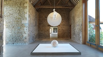 Contemporary art exhibition, Takesada Matsutani, drop in time at Hauser & Wirth, Somerset
