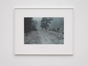 Footpath waterline - A thirteen day walk in the Sierra Tarahumara, Mexico 1987 by Richard Long contemporary artwork photography