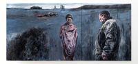Op Valsbaai, Skemeraand by Johann Louw contemporary artwork painting