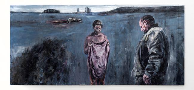 Op Valsbaai, Skemeraand by Johann Louw contemporary artwork