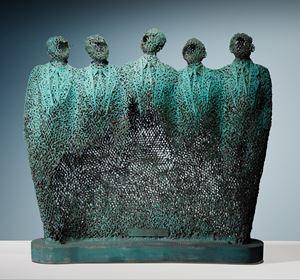 5 Officials by Nyoman Nuarta contemporary artwork