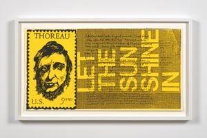 the stamp of thoreau by Corita Kent contemporary artwork