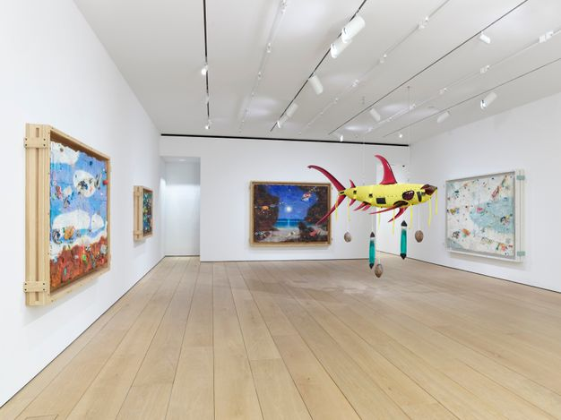 Exhibition view: Ashley Bickerton, In Focus: Ashley Bickerton, New York (12 March–3 April 2021). Courtesy the artist and Lehmann Maupin, New York, Hong Kong, Seoul, and London.Photo: Elisabeth Bernstein.