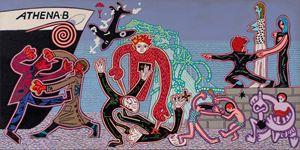 Brighton Beach (Athena B) by Christopher Battye contemporary artwork