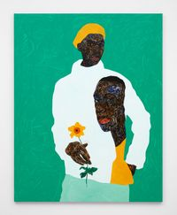 Yellow Beret by Amoako Boafo contemporary artwork painting