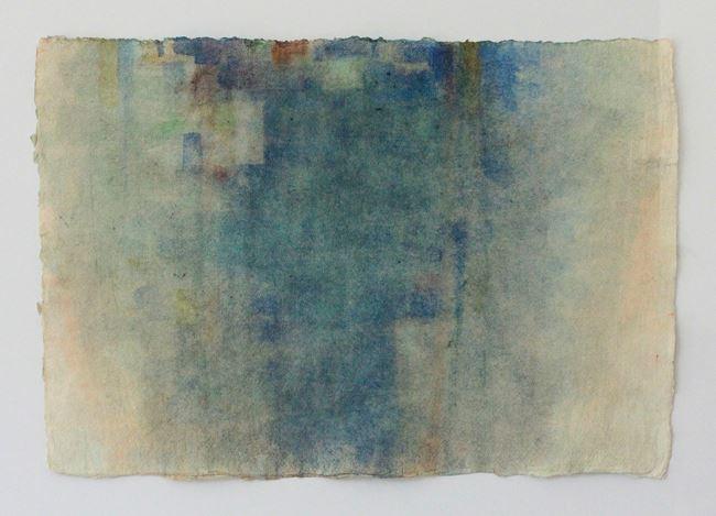 Blau Grün Gelb Orange auf rosa Dreck by Peter Tollens contemporary artwork