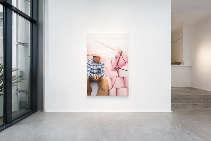 Exhibition view: Will Cotton,The Taming of the Cowboy, Templon, Brussels (28 May–31 July 2020). Courtesy Templon.