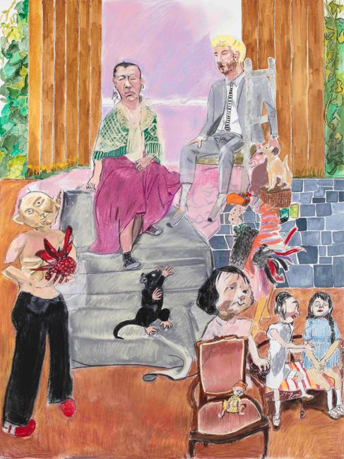 The Hateful Aunt and her Son by Paula Rego contemporary artwork