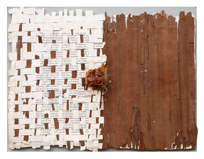 Untitled (Text/textile) by Mirella Bentivoglio contemporary artwork