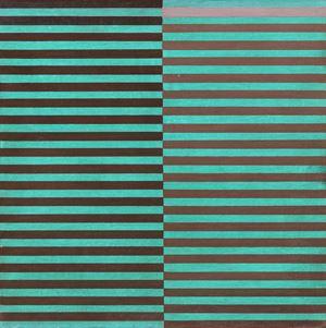 Ricerca del colore. Marrone su azzurro by Dadamaino contemporary artwork