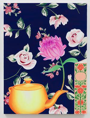 Flower in Tea Pot by Alec Egan contemporary artwork painting