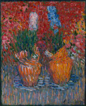 Hyazinthentöpfe (Hyacinth-pots) by Alexej Von Jawlensky contemporary artwork