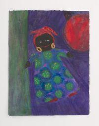 Floating Black Doll w/ Red Ball by Betye Saar contemporary artwork painting