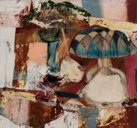 Lamp and Vase by Michael Goldberg contemporary artwork painting