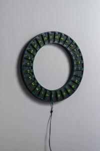 Counter Circle No. 14 (G/28) by Tatsuo Miyajima contemporary artwork sculpture