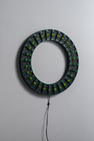 Counter Circle No. 14 (G/28) by Tatsuo Miyajima contemporary artwork