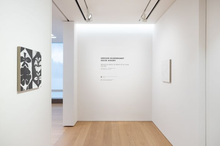 Exhibition view: Gregor Hildebrandt, Behind My Back, in Front of My Eyes, Perrotin, Hong Kong (25 September–6 November 2021). Courtesy the artist and Perrotin. Photo: Ringo Cheung.