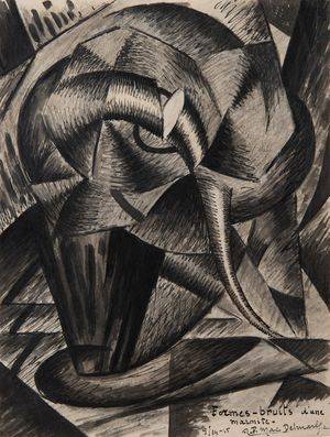 Formes- bruits d'une marmite by Félix del Marle contemporary artwork
