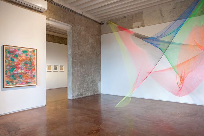 Exhibition view: Rana Begum, Solo Exhibition,Jhaveri Contemporary, Mumbai(19 September–2 November 2019). Courtesy Jhaveri Contemporary.