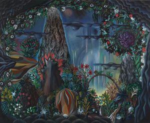 Höhlenausblick by Hartmut Neumann contemporary artwork