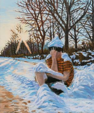 The Winter Man by Mo Min Choi contemporary artwork