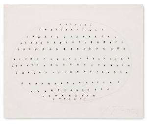 Concetto Spaziale by Lucio Fontana contemporary artwork works on paper, drawing