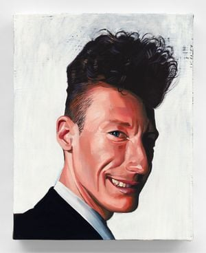 Lyle Lovett by Sam McKinniss contemporary artwork