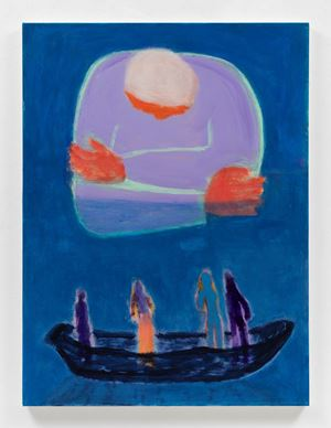 Moon Woman Over Sailors by Katherine Bradford contemporary artwork