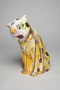 A jaguar: spotty state by Pie Rankine contemporary artwork sculpture, ceramics
