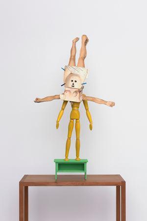 Maquette: Le monde à l'envers by Patrick Van Caeckenbergh contemporary artwork sculpture