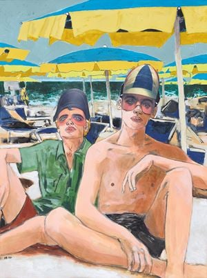Napoleon and a Jockey on the Lido by Hernan Bas contemporary artwork