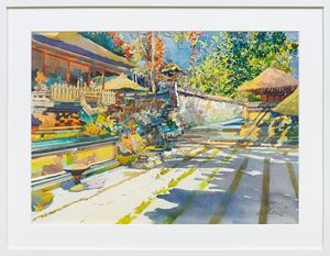 Sunny day at the resort , Bali by Ong Kim Seng contemporary artwork