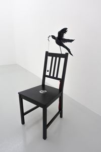 Paradise Bird with Compass by Caroline Rothwell contemporary artwork sculpture