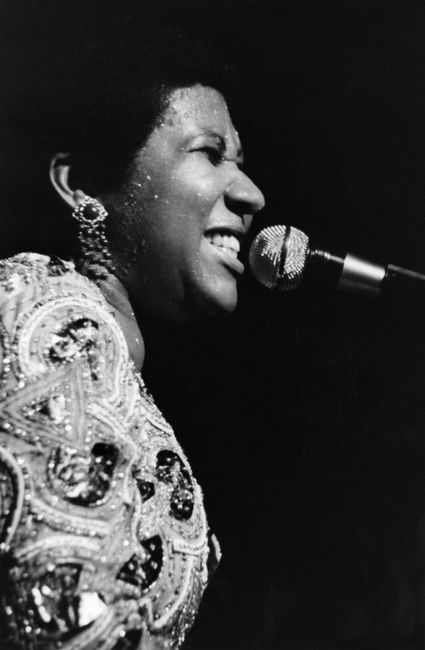 Aretha Franklin at the Apollo, Harlem, New York by Chester Higgins contemporary artwork