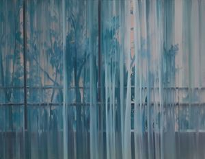 Landscape with curtain by Park Kyung-A contemporary artwork