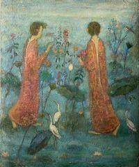 Jardin Bleu by Juanli Jia contemporary artwork painting