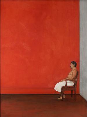 A Portrait in Red by Desmond Lazaro contemporary artwork