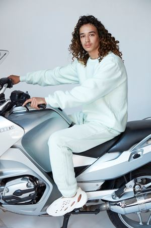 Mehdi on a Motorcycle by Roe Ethridge contemporary artwork