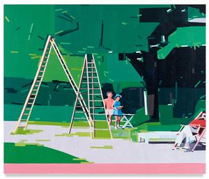 Lake Annecy by Guy Yanai contemporary artwork
