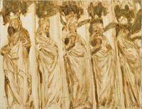 Wise Virgins by Ioana Batranu contemporary artwork painting