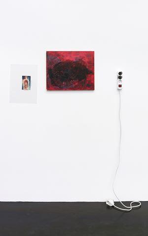 intestine, red, black by Henrik Olesen contemporary artwork