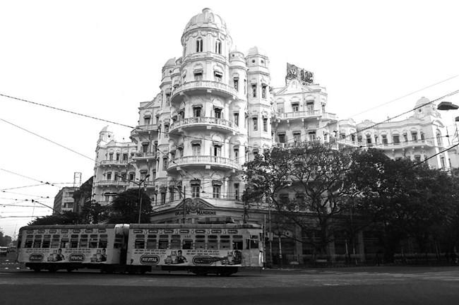 'Esplanade Mansions' Colonial Art Nouveau Architecture, Calcutta, 2013 by Prabir Purkayastha contemporary artwork