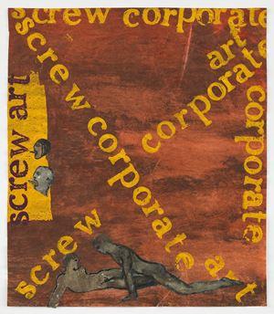 Screw Corporate Art by Nancy Spero contemporary artwork works on paper, print